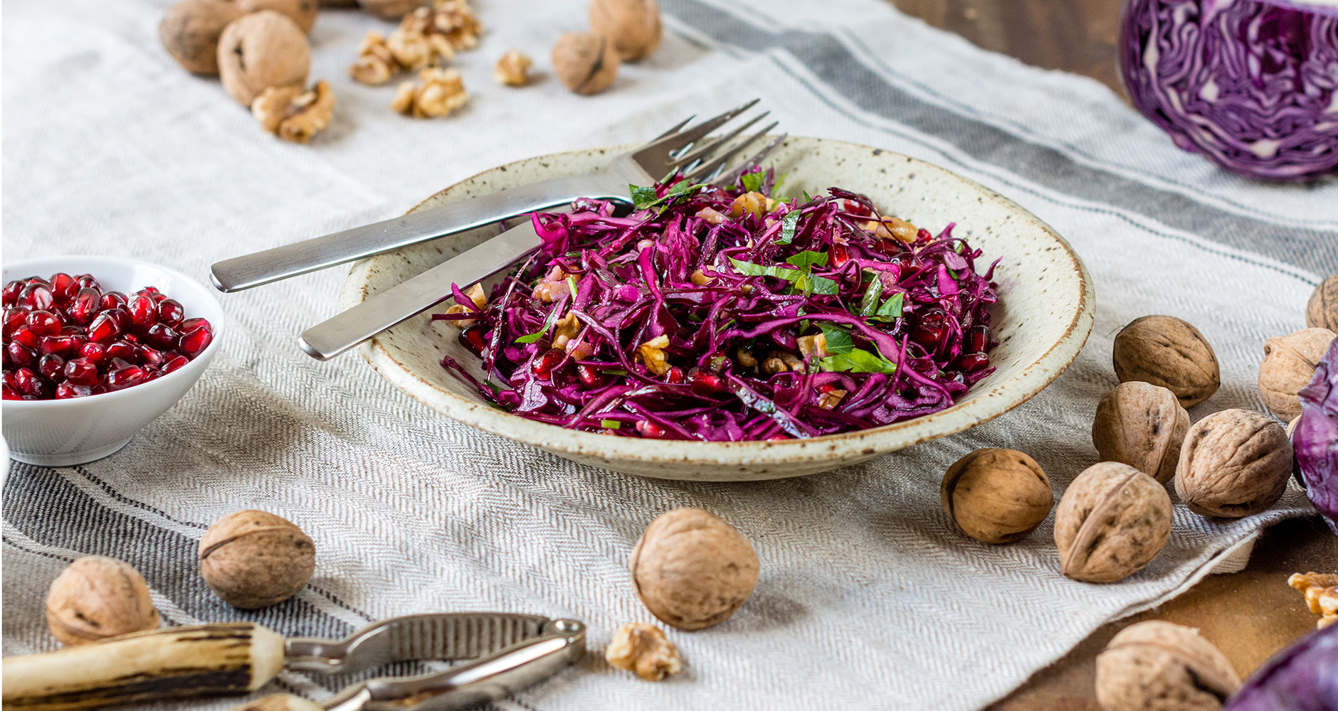 Fruity red cabbage salad