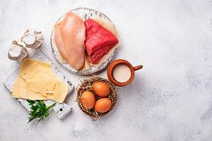 milk, meat, eggs,saturated fat