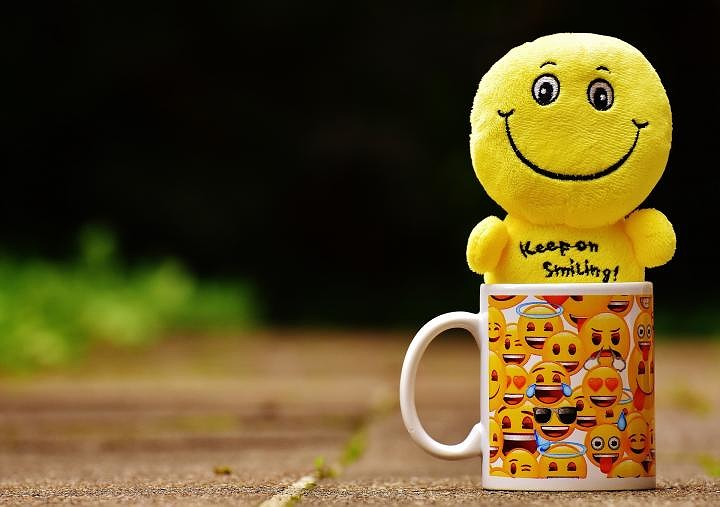 cup with smilies